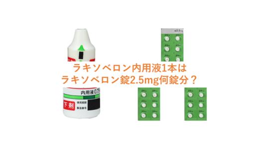 ラキソベロン内用液は何滴入っているか